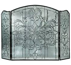 beveled glass fireplace screen stained glass fireplace screens windows lighting lamps light covers fire screens stained