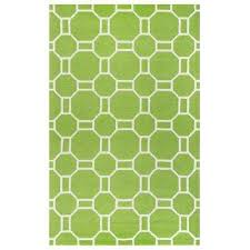 azzura hill lime green geometric 5 ft x 8 ft outdoor area rug