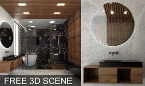 Interior Design 3d Models Free Bathroom Scene 3d Models Free Video Timelapse In The 1