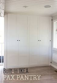 kitchen pantry furniture french windows ikea pantry. No Pantry In Your Kitchen? You Can Make An Ikea Wardrobe System Appear To Look Built And Add Some Wow Factor At The Same Time. Kitchen Furniture French Windows