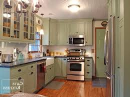 Contemporary Painting Cherry Kitchen Cabinets White Green Building Marble Intended Design Inspiration