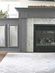 penny tile around fireplace - Google Search | New House! | Pinterest | Tiled  fireplace, Stone tiles and Herringbone