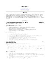 Standard Resume Format Sample Resume Format Sample For Job