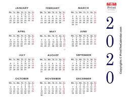 2020 Photo Calendar Template