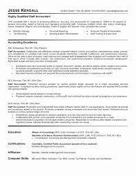 Sample Accounting Resume Unique Staff Accountant Resume Examples