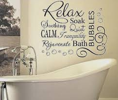 bathroom sayings and es inspirational soak relax vinyl bubbles bath e vinyl bathroom wall