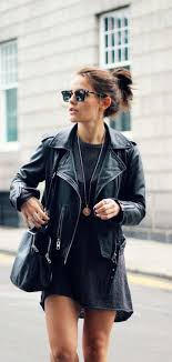 amy spencer is wearing an oversized jumper from h m and a leather jacket from all saints