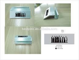 asny logo silvertone customized printing display case designer zinc alloy desktop business card holder
