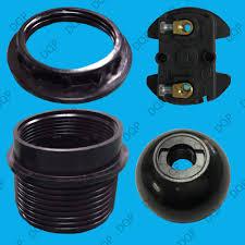 details about e27 black period style pendant socket bakelite light bulb m10 lamp holder