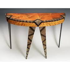 artistic furniture. art deco demilune table by grant noren artistic furniture