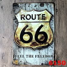 Small Picture Aliexpresscom Buy Route 66 Metal Signs Vintage Home Decor Bar
