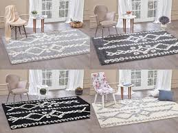 details about moroccan gy area rug grey white black soft carpet traditional berber designs