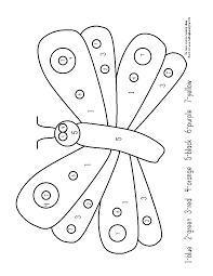 Coloring Pages Very Hungry Caterpillarloring Pages Vhclorbynumber