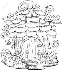 Small Picture Fairy House Coloring Pages Coloring Pages