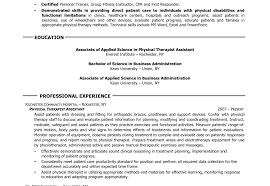physical therapy resume okl mindsprout co physical therapy resume