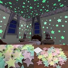 Cheap 100/40Pcs Baby Kids Home Bedroom Fluorescent 3D Glow ...