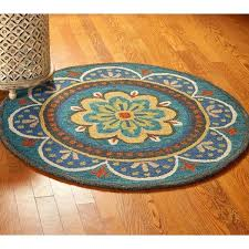 round area rugs home dazzle blue geometric rug 5x7 oval wayfair round area rugs