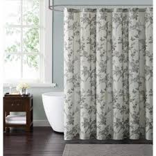 Style 212 Lisborn Brown 72 in Cream and Brown Shower Curtain