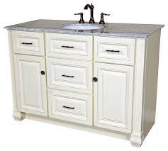 50 inch single sink vanity heirloom white