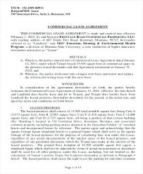 Standard Com Lease Agreement Form Lovely New Free Commercial ...