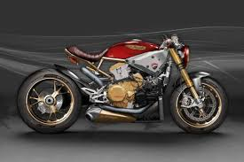 ducati 1299 panigale cafe racer concept looks as extreme as it
