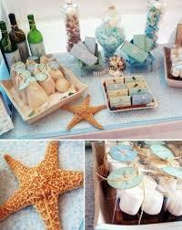 beach theme bridal shower centerpieces
