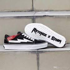 New Pattern Revenge X Storm Unisex Low Top High Top Adult Men Canvas Shoes Laced Up Casual Shoes Woman Gym Sneaker Shoes Navy Shoes Blue Shoes From