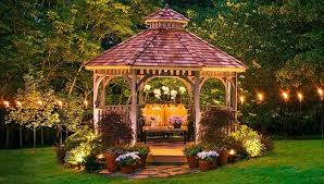 outdoor lighting ideas for backyard. Ideas For Gazebos Backyard Gazebo At Night With Outdoor Lighting T