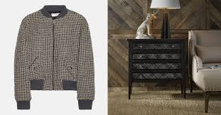 patterns furniture. Menswear Patterns Finding Their Way To Accent Furniture