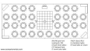 Tent Seating Chart 40 X 100 Tent Layout Seating In 2019 Seating Chart