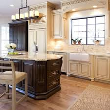 Kitchen ideas cream cabinets White Cabinets Kitchen Countertops With Maple Cabinets Beige Kitchen Ideas Cream Kitchen Cabinets Nemogorg Kitchen Explore Your Kitchen Contrast Design Using Cream Kitchen