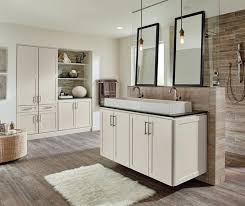 Concept White Bathroom Cabinets In The Sedona Door Style On Design Ideas