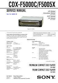 sony cdx gt30w gt300 gt300ee gt300s gt350 gt350s service manual sony
