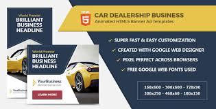 Banner Ad Website Template Car Dealership Banner Ads Html5 Gwd