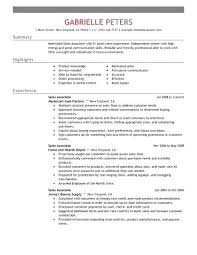 Objective For Sales Associate Resume Sales Associate Resume Examples Uwaterloo Co