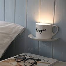 creative coffee cup diy led night light romantic usb rechargeable table lamp home decor