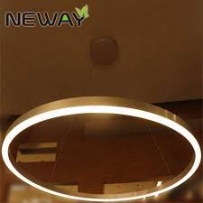 large ring led suspended pendant light chandelier lamp ceiling fixture