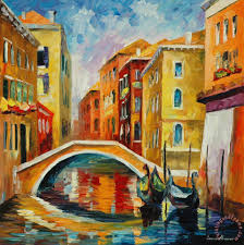 venice bridge painting leonid afremov venice bridge art print