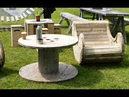 Build a Furniture with a wooden cable reel   Furniture and design