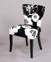 neo classical fl black and white upholstered chair
