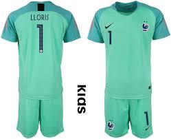 Green Jersey 2 France Soccer Cup Youth Goalkeeper 2018 Star Fifa World 1 Lloris