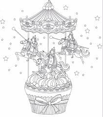 Small Picture Cup cake carousel coloring page printables Pinterest Cup