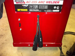 lincoln electric ac 225 ac225 ac dc stick tig welder conversion build a rectifier box to switch between ac and dc operation it would have been a bit cleaner to get panel mount connectors but this was much easier