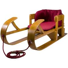 lucky s heirloom collection baby boggan wooden pull sled