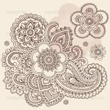 Intricate Design Coloring Pages Paisley Floral