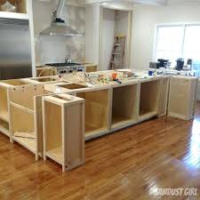 Build Kitchen Island With Cabinets Before And After Kitchen Island