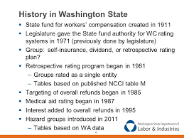 4 history in washington state state fund for workers compensation created in 1911