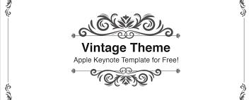 フレームデザインのおしゃれなキーノートテンプレート Vintage Keynote