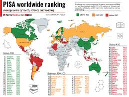 Map Testing Scores Chart 2018 Pisa 2015 Worldwide Ranking Average Score Of Math Science