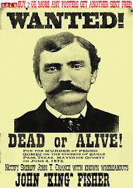 Old West Wanted Poster Outlaw Gunfighter King Western Reward